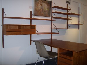 Unbelievable 1960's Poul Cadovius teak desk/wall system - mind-blowing design and craftmanship - perfect for your mid-century modern home and/office - (SOLD)