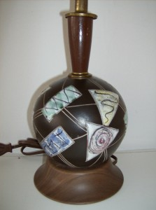 Marvelous Modernist ceramic lamp by Canadian designer Herta Gertz circa 1960's - base only - (SOLD)