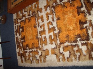 """A Striking Mid-century modern rug -fantastic condition - perfect for any room in your Mid-century modern home - this beauty measures - 54""""X76"""" - (SOLD)"""