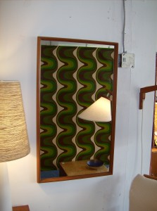 """Striking 1960's Danish teak mirror super high quality -  this beauty measures - 22""""X38.5"""" - (SOLD)"""