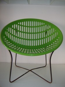 Can you say RETRO!!!! Designed in the 1970's by Fabio Fabiano and Michelange Panzini - Made in Quebec - They were so popular the company has decided to start making them again...they are super comfortable and you can't beat the style - the top is new on an original vintage base - (SOLD)