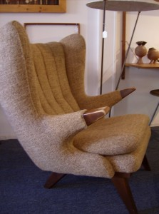 Wicked Mid-century modern Easy chair and ottoman in the style of the Iconic Hans Wegner Papa Bear Chair - super condition and super comfortable - (SOLD)