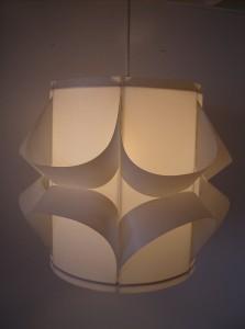 Groovy vintage plastic pendant light - great mood lighting - fantastic design - (SOLD)