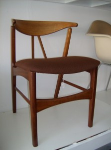 A Spectacular Danish teak chair - this beauty would stand alone in any room in your Mid-century modern home and/or office - (SOLD)