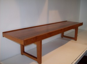"""Incredible 1960's bench/coffee table by Norweigan designer Torbjorn Afdal - manufactured by Bruksbo of Norway - super high quality - PERFECT for a Mid-century modern home and/or office - this beauty measures 5' long X 14.5 deep and 13.5"""" tall -unbelievable price - (SOLD)"""