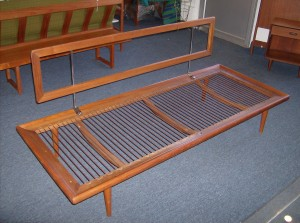 """Spectacular 1950's teak daybed by two of Denmark's prized designer's Peter Hvidt and Orla Molgaard-Nielsen - manufactured by France and Daverkosen - Denmark - sorry no cushions - this fabulous piece measures - 75""""Long by 30"""" deep - seat height is 12"""" back height is 30"""" - (SOLD)"""