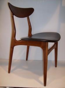 Stunning set of 4 Danish teak dining chairs - super sculptural - (SOLD)