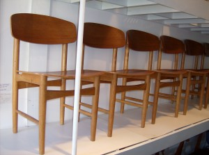 Spectacular set of 6 Mid-century modern dining chairs by a Great Dane - Borge Mogensen - nice condition - WOW - (SOLD)
